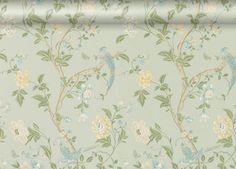 Laura Ashley Summer Palace Duck Egg Eau De Nil Vintage Shabby CHIC Wallpaper #shabbychic