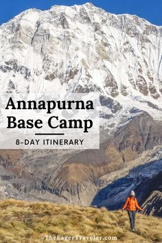 Are you planning a trip to the Annapurna Base Camp in Nepal? Here are the best tips to make it a trip of a lifetime. Whether you are planning an 8-day hike or a longer trek this itinerary will make the trip more enjoyable. From packing essentials, what to wear hiking, to choosing a guide, and so much more. Planning an outdoor adventure trip to this beautiful destination will be an unforgettable experience. #TheEagerTraveler #AnnapurnaBaseCamp #Nepal #Hiking #TrekkingInNepal Best Vacation Destinations, Dream Vacations, Travel Inspiration, Travel Ideas, Travel Tips, Asia Travel, Travel Nepal, Travel Activities, Culture Travel