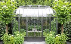 Conservatory Story by Cornelia Clay This week, while walking the rural Texas fields, the Trove Market team stumbled across this emerald green conservatory. Garden Trellis, Garden Pool, Terrarium, Landscape Design, Garden Design, Victorian Greenhouses, Backyard Greenhouse, Greenhouse Ideas, Glass Structure