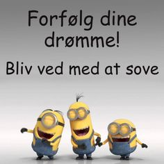 Bliv ved med at sove og drømme Minion Jokes, Wall Decor Pictures, Bear Cartoon, Bare Bears, Funny Thoughts, Memes Humor, Good Advice, Alter, Funny Texts