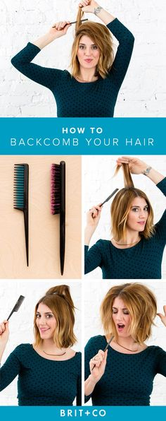 Learn how to backcomb your hair with this super easy tutorial.