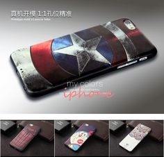 Captain America Case for iPhone 6 6s Case Original 3D Relief Painting Soft Silicon Cover for iPhone 6 6s Plus Case TPU Cover