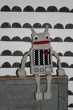 handmade toy robot