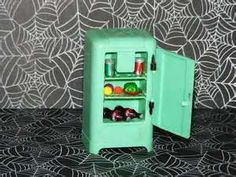 Image detail for -Rare-Renwal-Light-Green-Dollhouse-Refrigerator-Extras-1950s