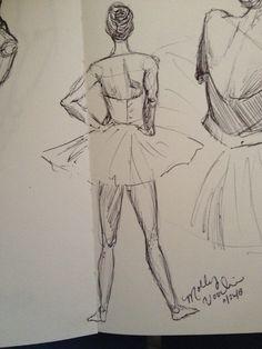 Ballet. sketch, by MGV.