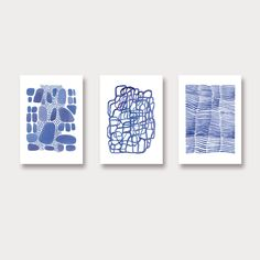 Wall art set of 3 prints. This listing is for a set of 3 watercolor prints. The prints will give a nautical and natural extra to your room or kitchen. These are prints of original watercolor paintings.   - Earth - Wind - Water  Papersize : (A3) 11.7 x 16,5 inches Printed on Archival
