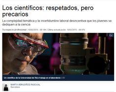 Los científicos: respetados, pero precarios / LaVanguardia | #readytoresearch #sinciencianohayfuturo