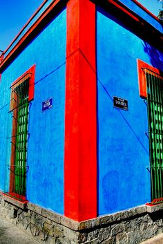 Diego Rivera's Blue House, where he lived with Frida