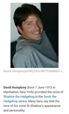 David Humphrey is my favorite voice actor for Shadow. He has one of the sexiest voices *-*