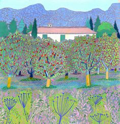 Cherry Orchard in Provence by #Sheila #Smithson