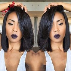 cool long bobs for african american hair - Google Search...