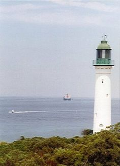 #Lighthouses: White Lighthouse, #Queenscliff, #Victoria, #Australia. Candle On The Water, Beacon Lighting, Water Tower, Light House, Victoria Australia, Australia Travel, West Coast, Seaside, Boats