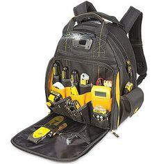 DeWalt Tool Backpack Bag, LED Light, 57-Pocket: Model# DGL523 | True Value