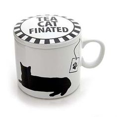 Cat Finated Tea Cup with Lid - Find it at The Cat Connection, the largest online retailer of premium cat products.