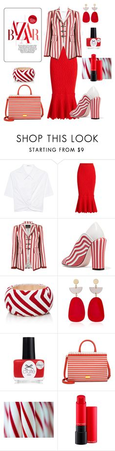 """""""Cooling Peppermint"""" by glamourgrammy ❤ liked on Polyvore featuring T By Alexander Wang, Jonathan Simkhai, Roberto Cavalli, Fendi, Mola SaSa, Isabel Marant, Ciaté, Boutique Moschino and MAC Cosmetics"""
