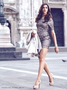 Deepika Padukone: Deepika Padukone looks smokin' hot in this sexy photo shoot filmed in Milan. Those legs are too die for, don't you think?Photo shoot for Van Heusen