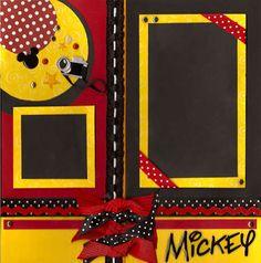 Disney Mickey Black, Red & Yellow Scrapbooking Layout