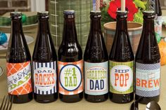 My Dad Rocks : Father's Day Party - Banner or bottle labels (free printable)