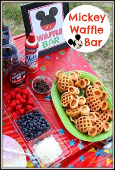 DIY Mickey Waffle Bar and #DisneyKids Preschool Playdate Party