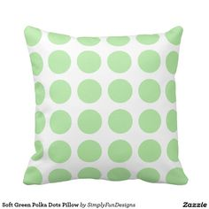 Soft Green Polka Dots Pillow