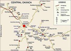 Oaxaca City location on the Mexico map Maps Pinterest Oaxaca