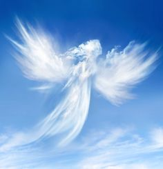 angel, clouds, and sky image Beautiful Sky, Beautiful World, Beautiful Pictures, Heaven Pictures, Beautiful Gifts, Statue Ange, Angel Clouds, I Believe In Angels, Angel Pictures