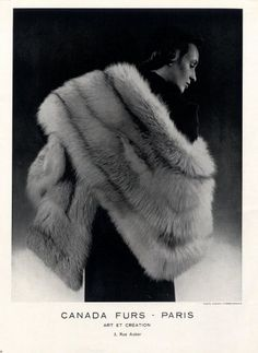 Canada Furs 1950 Fashion Photography Fur Coat
