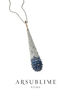 #pendant #diamonds #sapphires #arsublime #rome #finejewellery #upsidedown #inverno #mood #luxury #pendente #italianluxury #style #fashion