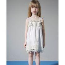 Dreamwish Φόρεμα βάπτισης με λευκή γάζα G1609