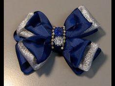 laço facil e pratico de fazer Passo a Passo- satin ribbon bow - YouTube