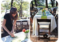 Table setting/outdoor seating at Three Points Ranch.