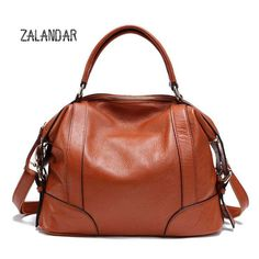 (81.00$)  Buy here - http://aiqqk.worlditems.win/all/product.php?id=32754750340 - ZALANDR GENUINE LEATHER BAGS Women Designer Brand Handbags High Quality Shoulder Messenger Bags Ladies sac a main fashion
