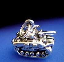 army tank pendant charm usa military sterling silver Real Sterling silver 925 pendant Charm jewelryLike this item find it at https://www.etsy.com/shop/princeofdiamonds
