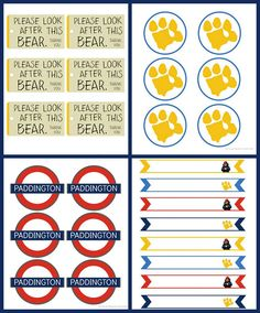 Host a Paddington Movie Viewing Party using these free printables. Ours Paddington, Paddington Bear Party, Harry Birthday, Bear Birthday, Movie Party, Party Time, Party Printables, Free Printables, Party Labels