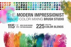 Modern Impressionist PS Brush Studio by Creators Couture on @creativemarket