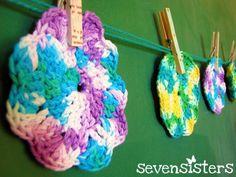 Super easy crochet face scrubby