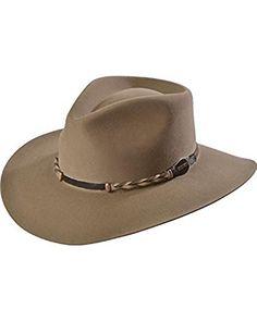 291ffd51831ce Stetson Men s Drifter Buffalo Wool Pinch Front Cowboy Hat – Stone