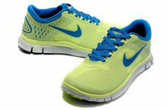 Nike Free 4 For Women Fluorescent Green/Blue Nike Free Runs For Women, Discount Nike Shoes, Shoes 2016, Nike Free Shoes, Courses, Adidas Women, Me Too Shoes, Casual Shoes, Nike Air Max