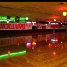 Roller skating rinks... Outer Limits was so cool :). Loved that place lol