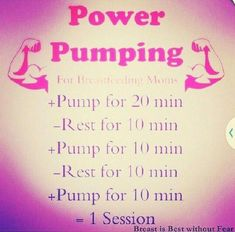 Power Pumping to increase milk supply Lactation Recipes, Lactation Cookies, Lactation Foods, Tire Lait, Nursing Tips, Breastfeeding And Pumping, Post Pregnancy, Baby Time, New Baby Products