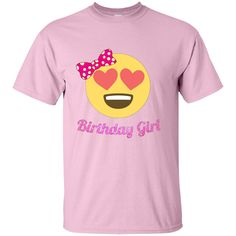 Birthday Girl T Shirt Birthday Emoji Heart Eyes Emoji Youth Custom Ultra Cotton Tee