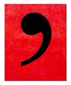Red Comma Print.