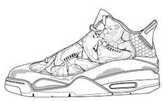 NBA Chicago Bull basketball shoes coloring pages Enjoy Coloring