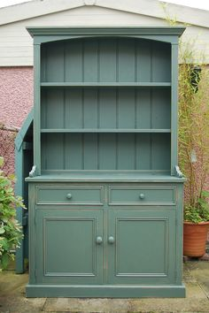 Pine Dresser hand painted and distressed in F, Green Smoke...