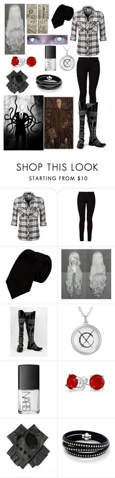 """""""Creepypasta: Daughter of Slender Man"""" by ender1027 ❤ liked on Polyvore featuring Barbara I Gongini, Alexander Olch, NARS Cosmetics, Bling Jewelry and Sif Jakobs Jewellery"""