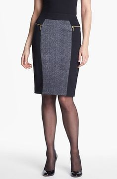 MICHAEL Michael Kors Colorblock Ponte Skirt available at #Nordstrom Classic with a twist!
