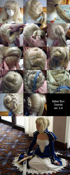 Saber Hair Styling Tutorial by *RuffleButtCosplay on deviantART