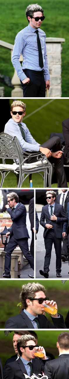 I...I literally don't know what to say,  it's just to much!! He's in a suit and tie and everything!!