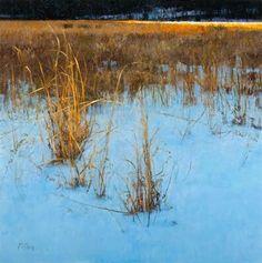Peter Fiore - Sunlit Grass, oil/panel, 36x36