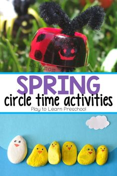 Spring Circle Time Activities for Preschool Activities For 5 Year Olds, Forest School Activities, Circle Time Activities, Rhyming Activities, Preschool Learning Activities, Preschool Lessons, Spring Activities, Infant Activities, Preschool Education